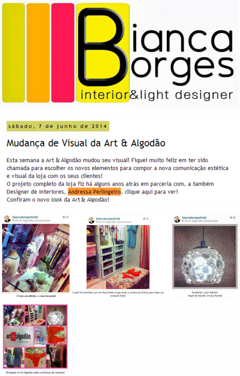 BIANCA BORGES INTERIORES & LIGHT DESIGNER