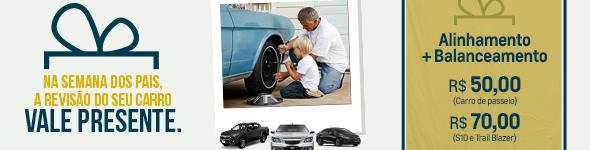 Na semana do Dia dos Pais, a Revisão do seu Carro vale Presente!
