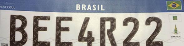 Denatran apresenta novas placas de autom�veis no padr�o do Mercosul