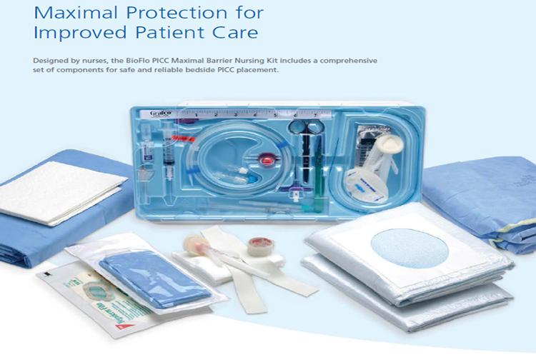 Angiodynamics lança nos USA o novo kit Bioflo PICC de máxima proteção ao paciente desenhado por enfermeiras para uso por enfermeiras.