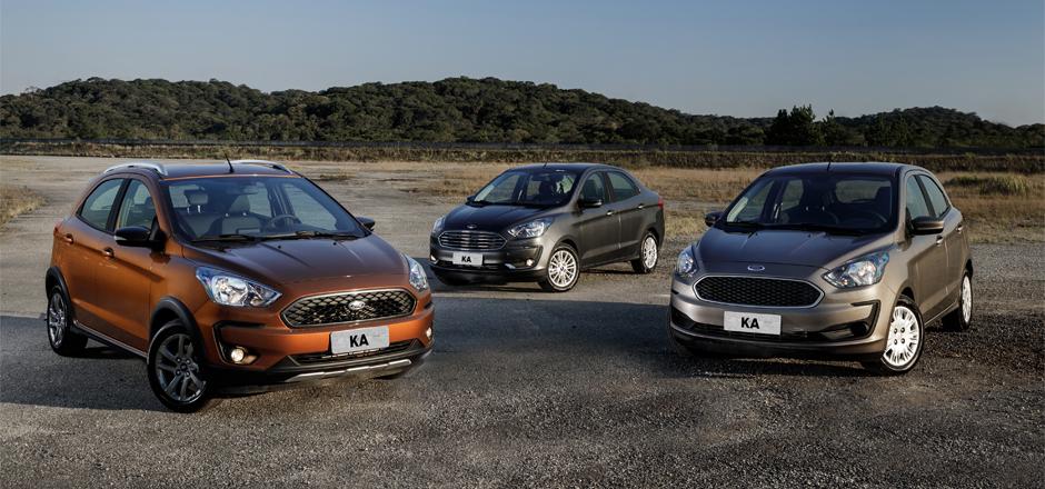 Ford Ka 2019 chega reestilizado, mais equipado, com novo motor e câmbio automático