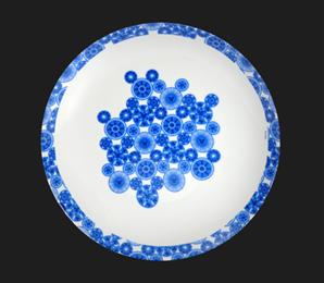Prato Decorativo Grande Mickey Blue