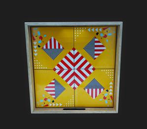 Bandeja 04 Azulejos Linoleo