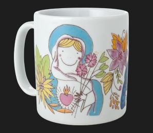 Caneca Gift Sagrado Coração de Jesus e Maria