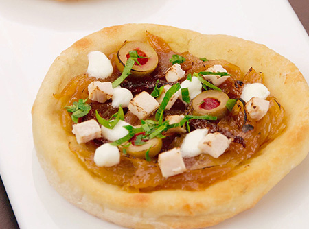 Pizza de frango francesa